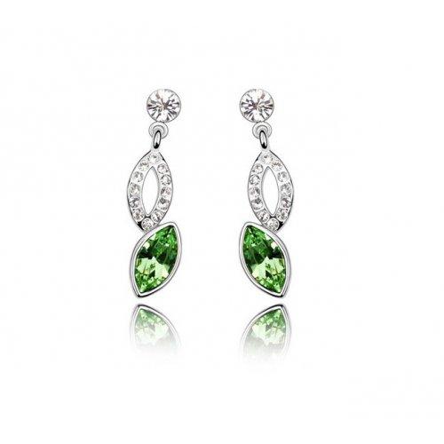 Cercei argint Green Drop Eternity