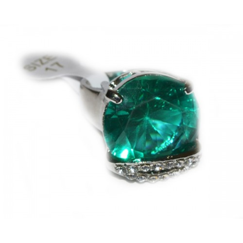 Inel Fashion Zircon Verde