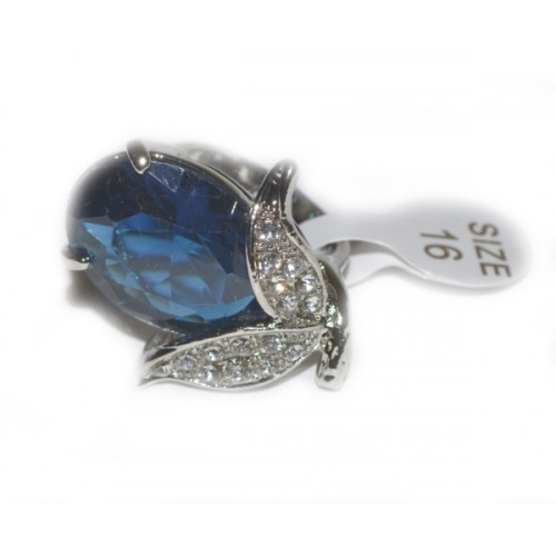 Inel Fashion Zircon Albastru