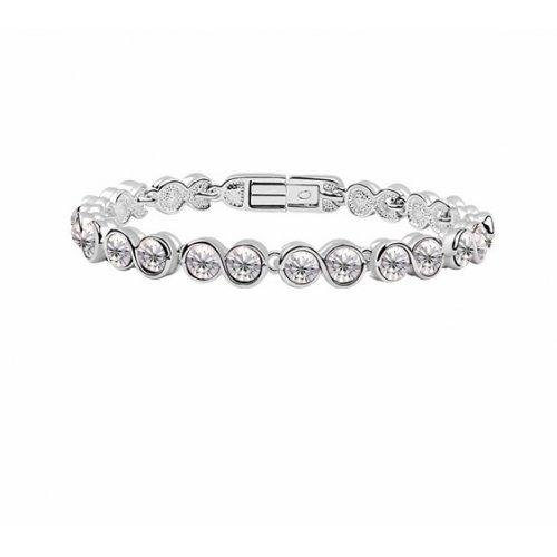 Bratara  argint cu elemente swarovski silver  cristale mari
