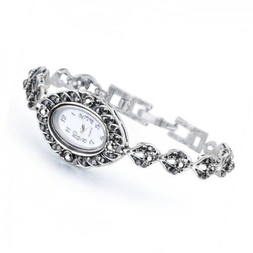 Ceas argint cu marcasite model Anastasia