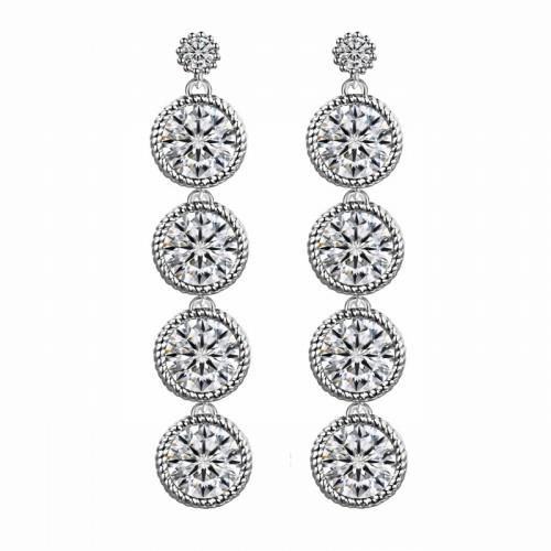 Cercei argint cu elemente swarovski queen cristal