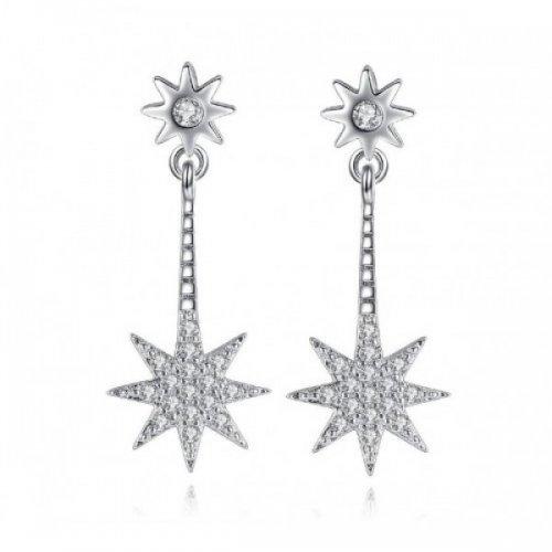 Cercei din argint femei Snowflake