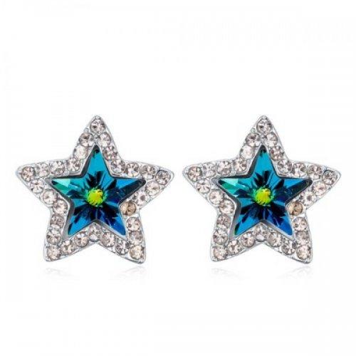 Cercei din argint femei Soul Blue Star