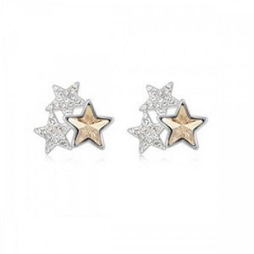 Cercei din argint femei Trio Star