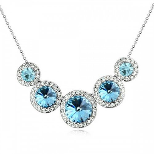 Lant argint femei cu pandantiv Queen Blue