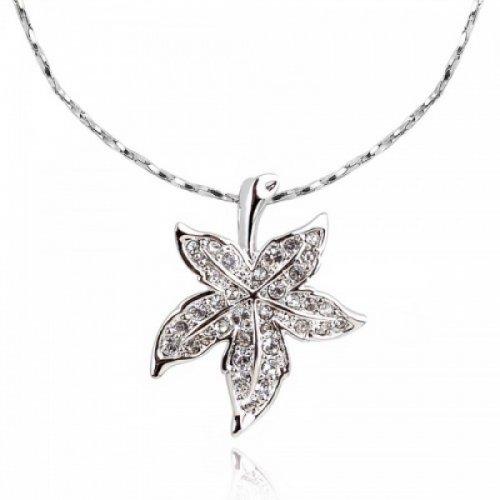 Lant argint femei cu pandantiv Royal Leaf