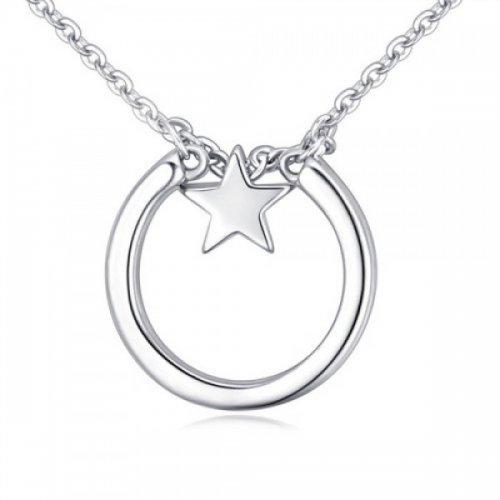 Lant argint femei cu pandantiv Star Eclipse