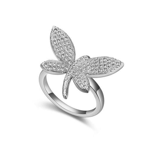 Inel  argint cu elemente swarovski crystal fluture
