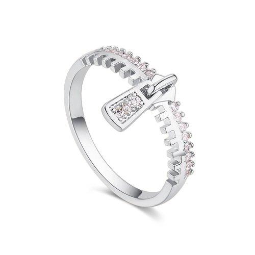 Inel  argint cu elemente swarovski zipp white