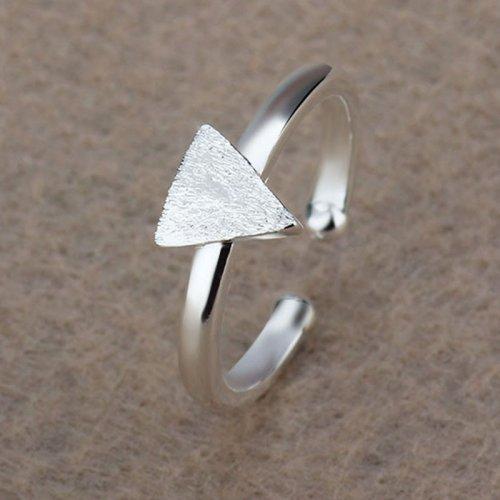Inel  argint triunghi