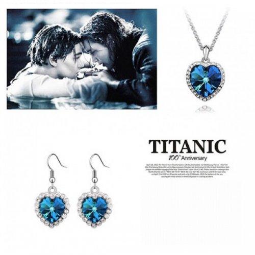 Set cu elmente  Swarovski Ocean Heart Titanic