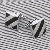 Butoni barbati otel inoxidabil Stripes