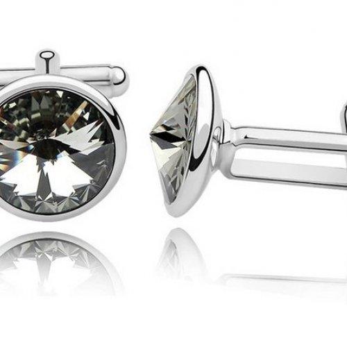 Butoni Elemente  Swarovski Silver