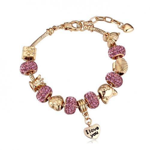 Bratara Charm Pandora Pink Love