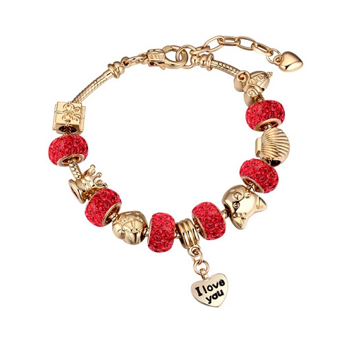 Bratara Charm Pandora Red Love